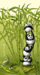 When pandas are hungry by VeronikaD