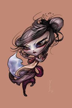 Cool chibi girl