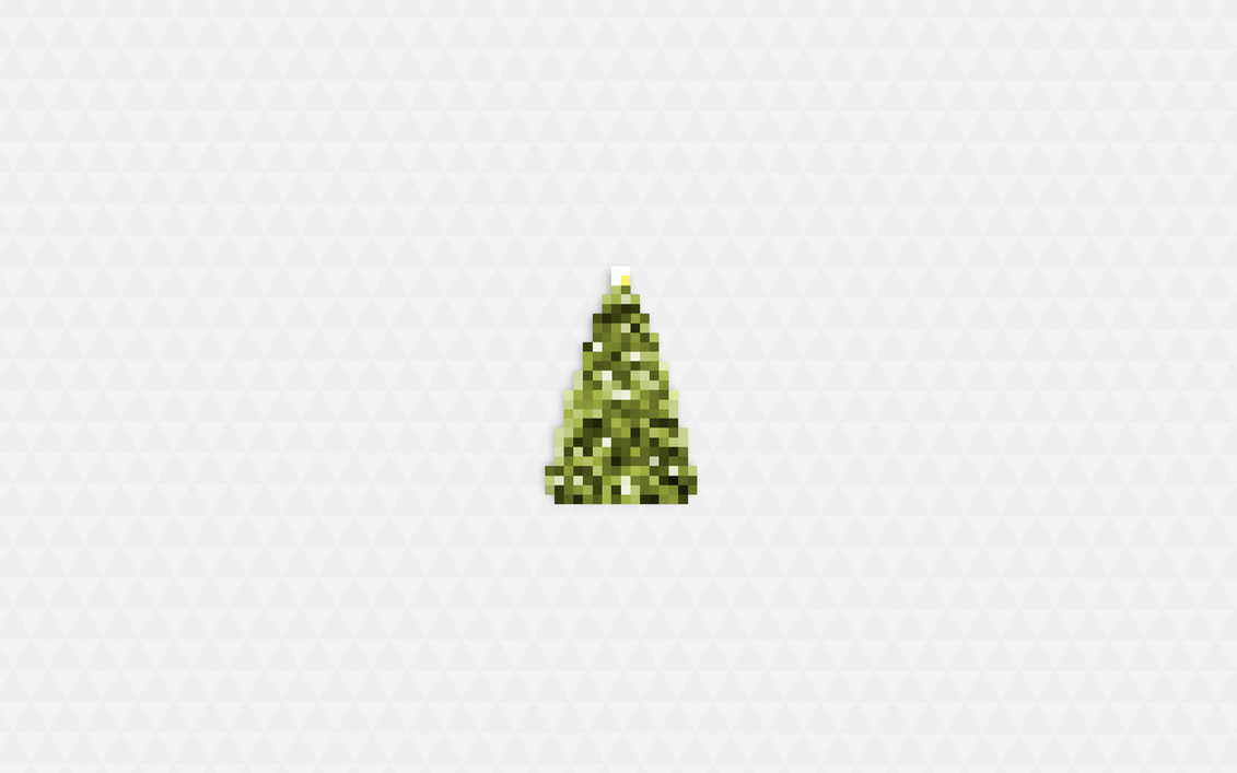 8bit Merry Christmas Tree - Day by the3creative on DeviantArt