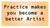 Stamp: Practice by MeckelFoxStudio