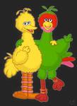 Big Bird and Abelardo