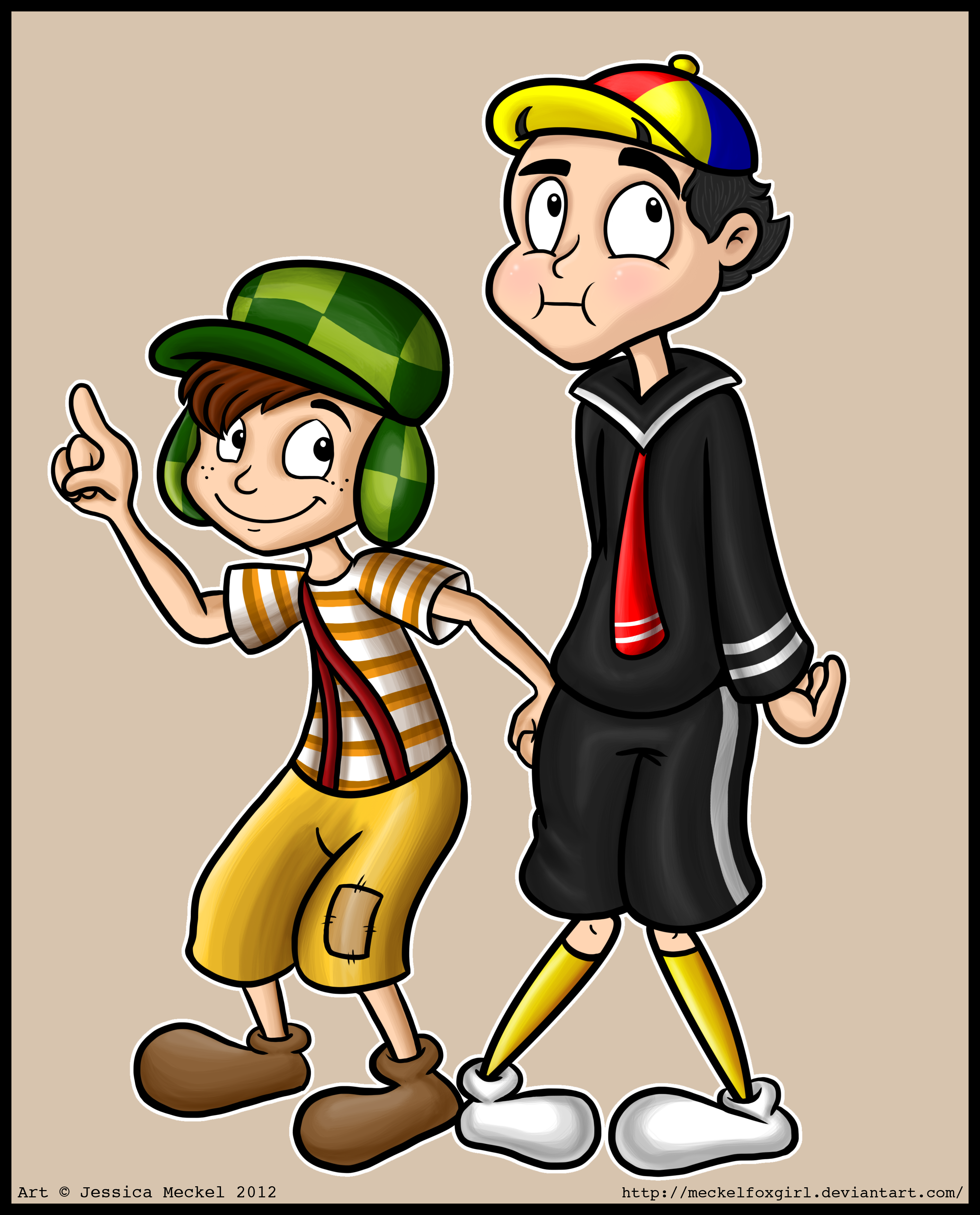 Chavo and Quico by MeckelFoxStudio