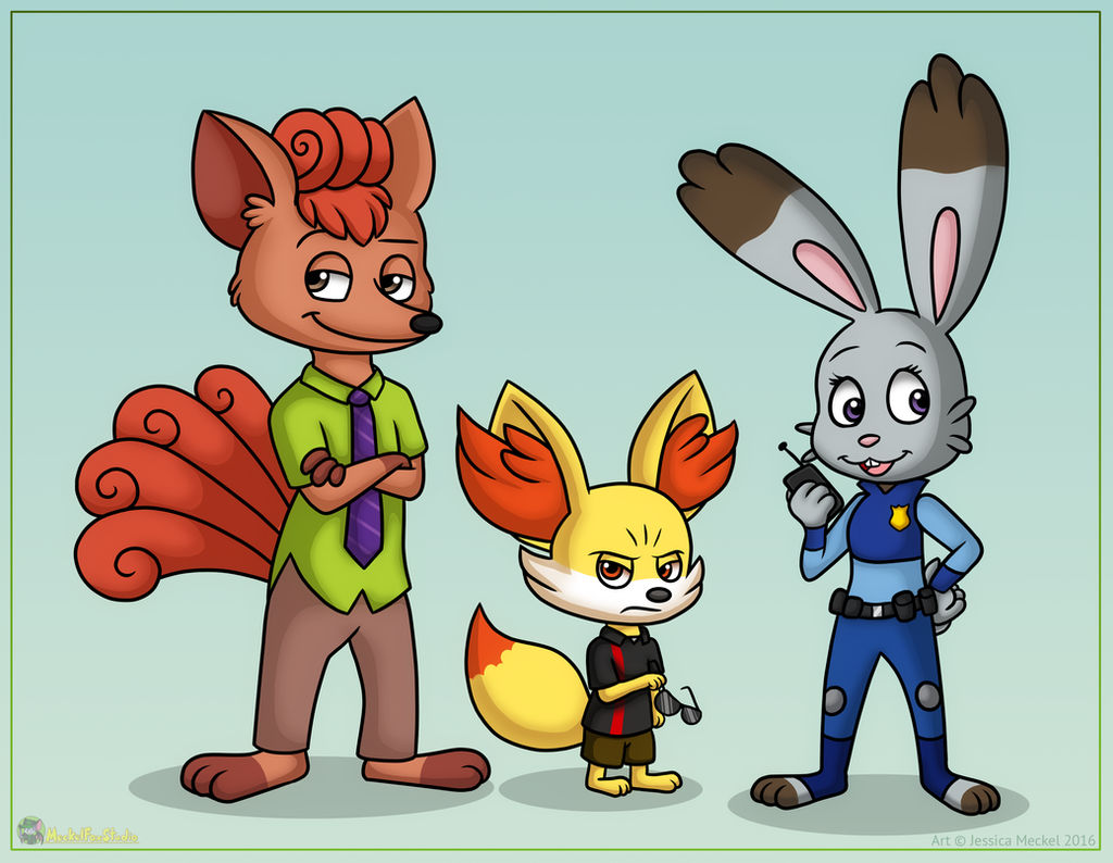 Zootopia Pokemon by MeckelFoxStudio