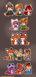 Disney's Foxes by MeckelFoxStudio