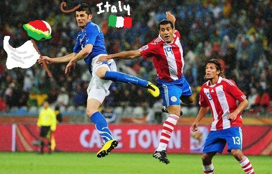 Day 4: Italy vs Paraguay by piratingpunk