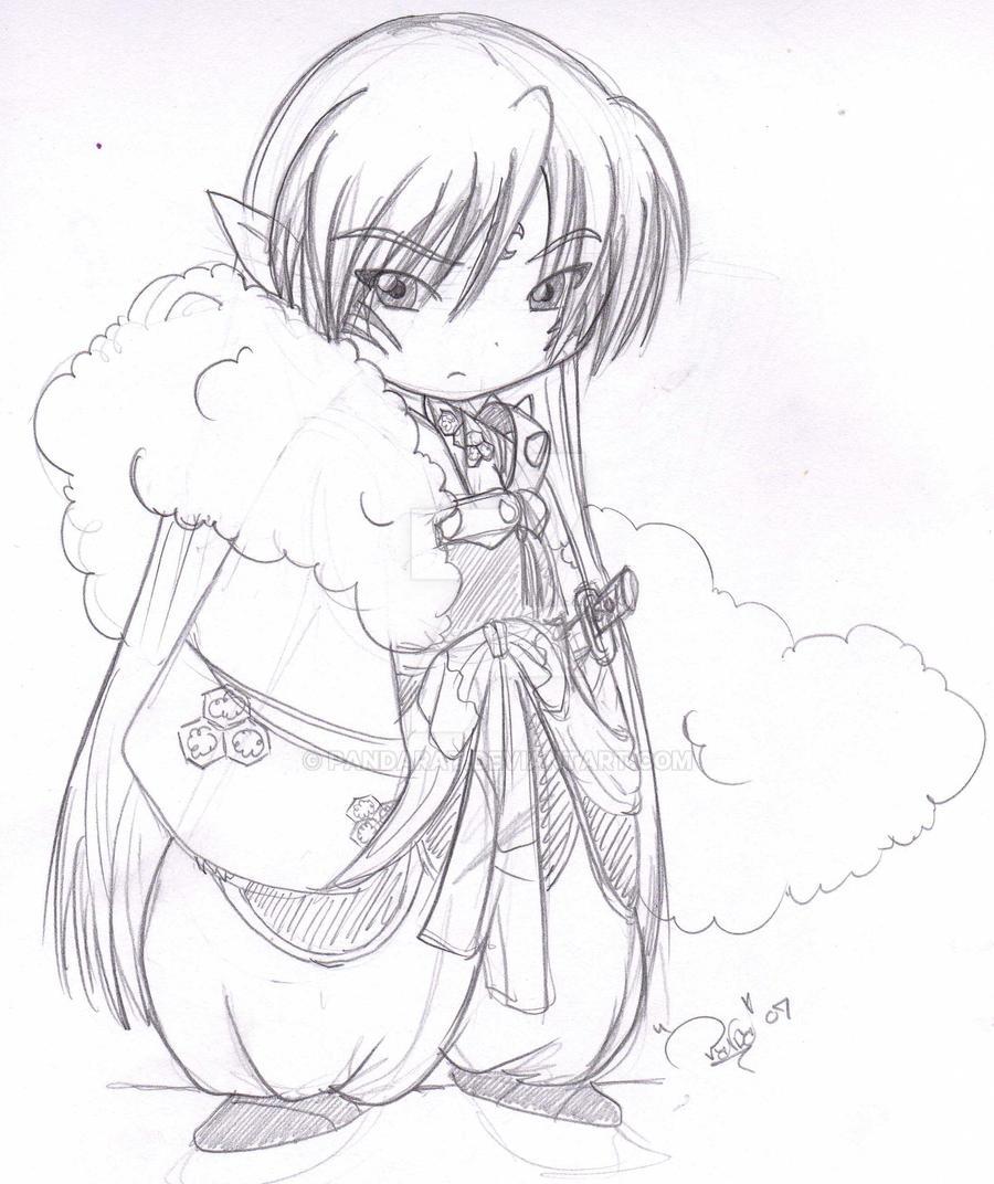 Rough Chibi Seshoumaru Sketch By Pandarat On DeviantArt