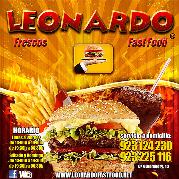 Leonardo - Fast Food - Flyer by WiLLD8 on DeviantArt