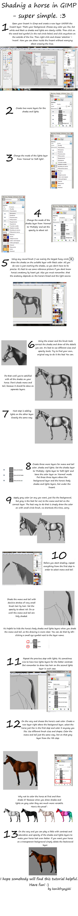 Tutorial for GIMP users (how to shade a horse) ENG by konikfryzyjski