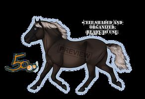 Pay2Use Trotting Pony Base 50pts by konikfryzyjski