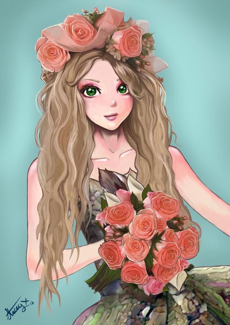 flower girllaffinityl on deviantart