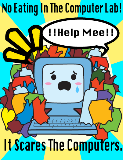 Computer Lab Poster by Animegirl300