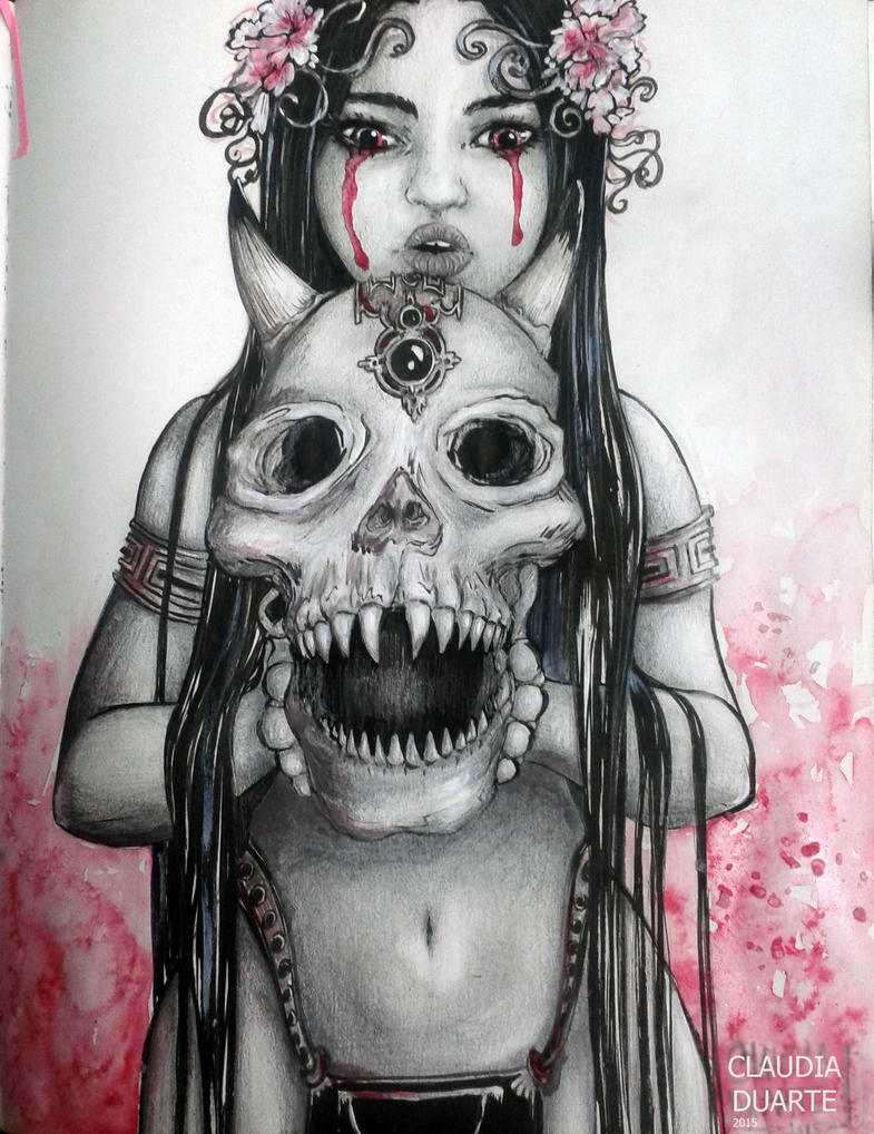 Sketckpage _ Skull by chockoladien