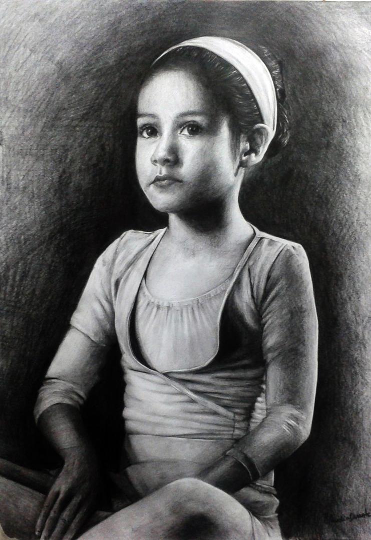 Ballerina portrait by chockoladien