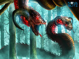 giant snakes by syam-arifin