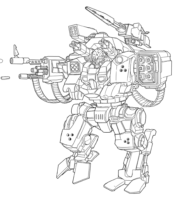 Line Art Robot : Mecha lineart by syam arifin on deviantart
