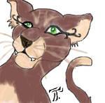 Cartoony Brown Cat