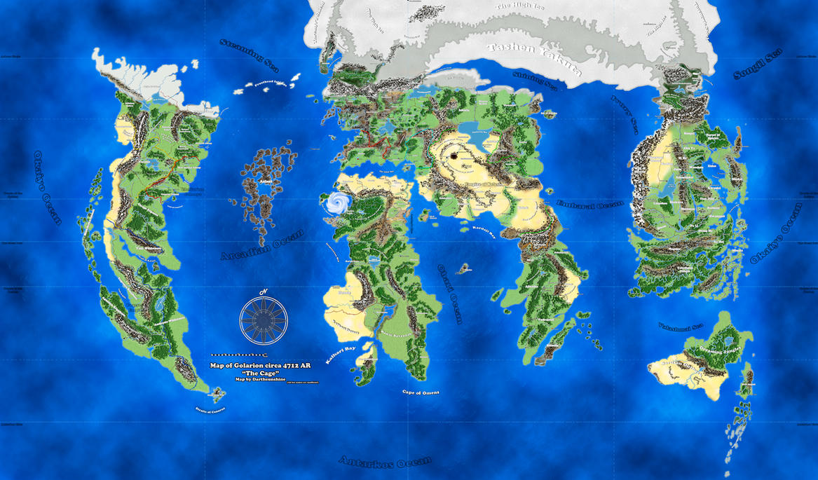 Attractive Fan Made Golarion Map By DarthSunshine42 ...