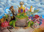 Frog prince at the gates of decay