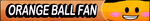 Orange Ball Fan button by buttonsmakerv2