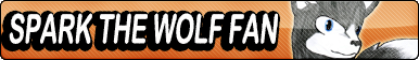 Spark The Wolf Fan Button by buttonsmakerv2