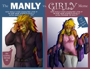 Manly-girly meme