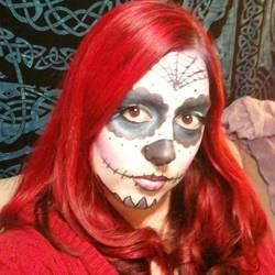 Halloween 2012 Sugar Skull ID by IvyNightwind