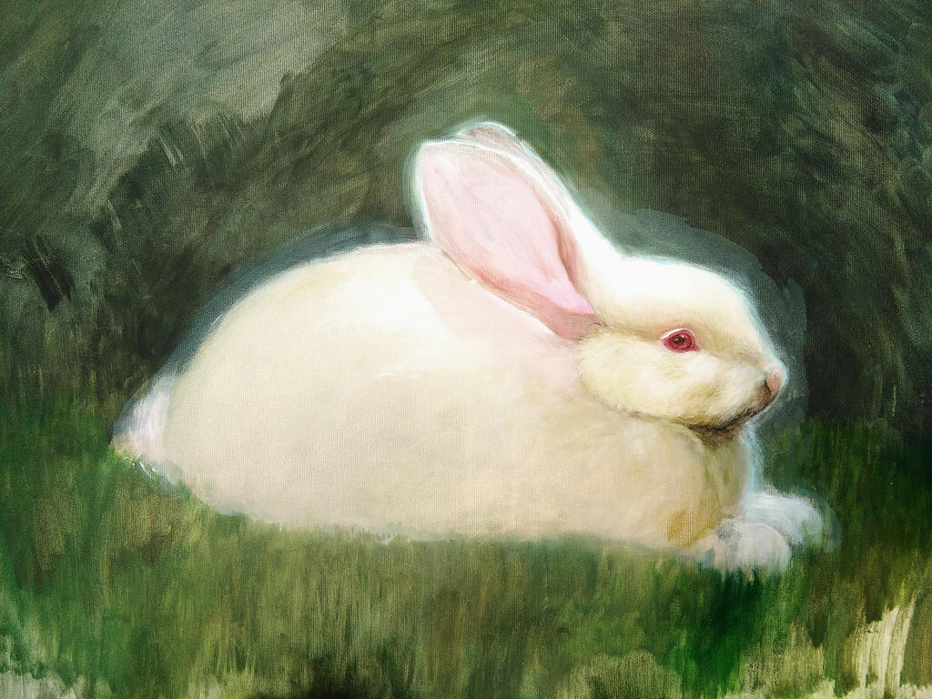Rabbit painting by beth223