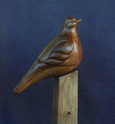 Dove wood sculpture 2