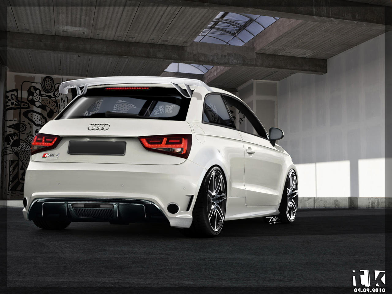audi rs1 rear view by tktuning on deviantart. Black Bedroom Furniture Sets. Home Design Ideas