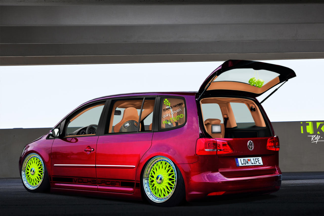 vw touran by tktuning on deviantart. Black Bedroom Furniture Sets. Home Design Ideas