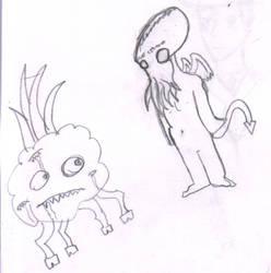 Cthulhu and his friend Shub