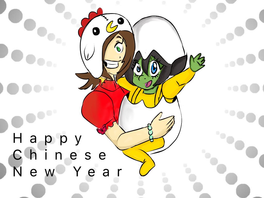 My Chinese new greeting by anime1999