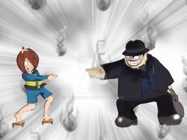 Kitaro vs the luagthing  sale man  or  Moguro Fuku