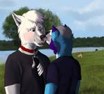 Dog Park Kisses .:Commission:. by Asleri