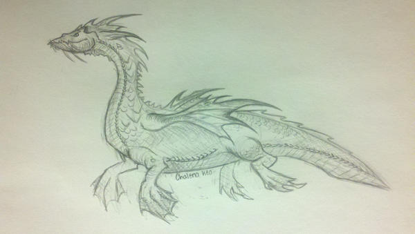 Scottish Sea Orc Dragon by BloodWolfGirl99