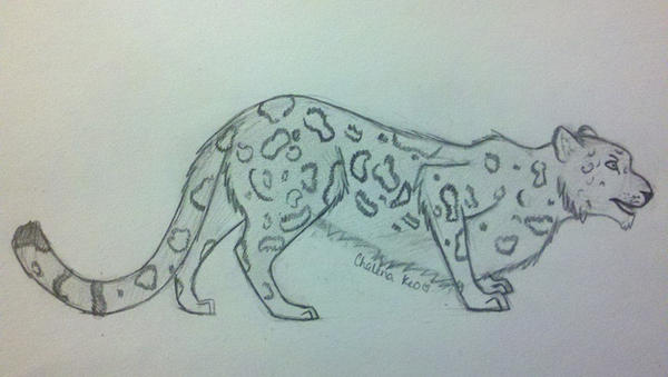 Prowling Snow Leopard by BloodWolfGirl99