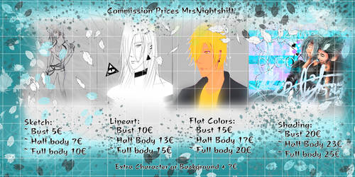 Commission Pricelist (open) lost my job.... by MrsNightshift