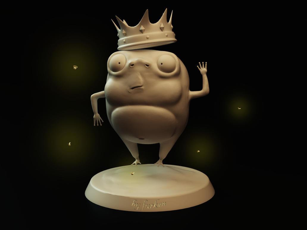 Prince Frog Sculpt Model by farqan