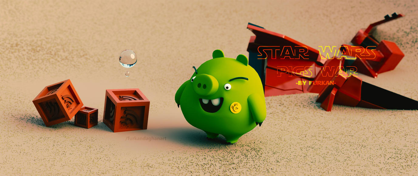 Star Wars Pigs War by farqan