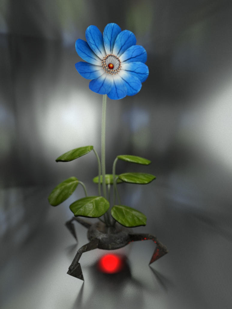 Mecha Blue Flower by Jahulath
