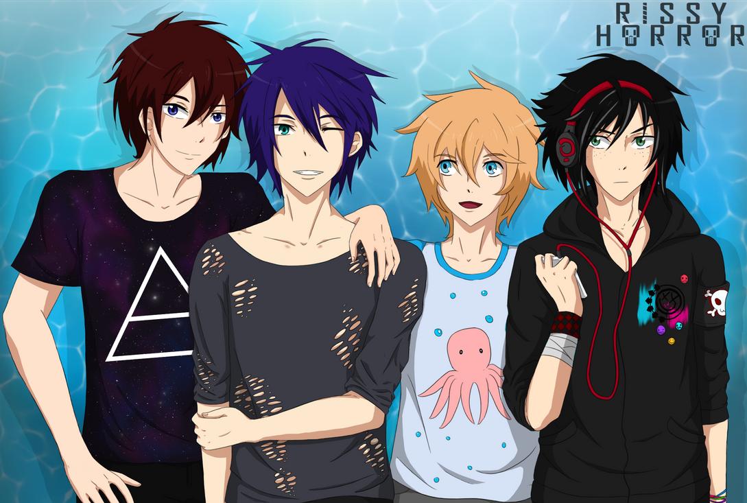 Samezuka boys by RissyHorrorx