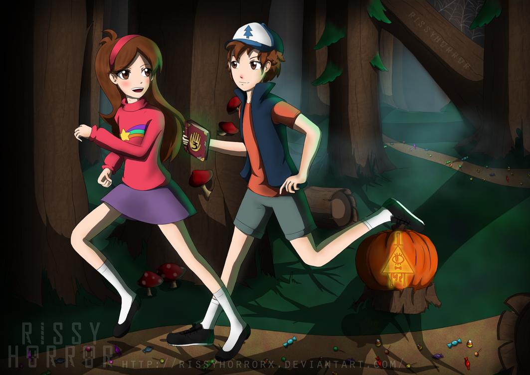 Mystery Twins (Gravity Falls) by RissyHorrorx