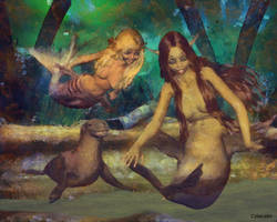 Nude girl to mermaid transformation by Cyberalbi