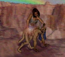 Girl to anthro puma TF