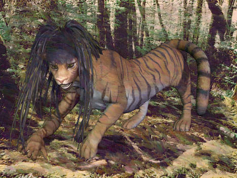 Nude anthro tiger TF 9