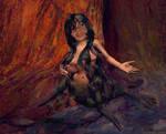 Cute selkie girl or seal mermaid by Cyberalbi