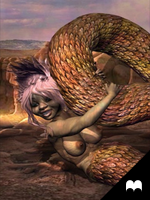 Beautiful nude lamia girl by Cyberalbi