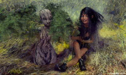 Tree girl transformation 3 by Cyberalbi
