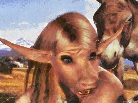 Anthro donkey TF 3