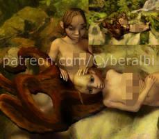 Cecaelia and girl